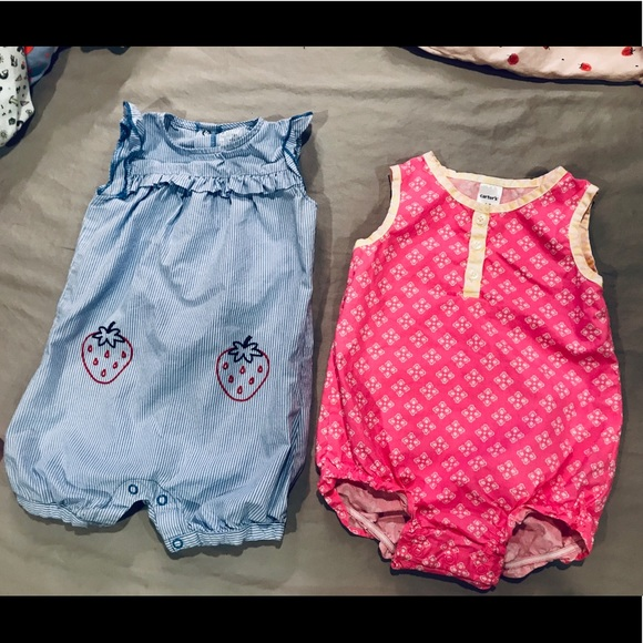 Carter's Other - Set of 2 Summer Rompers